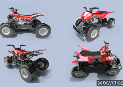 Remote control ATV additional views. Built in 3DS MAX