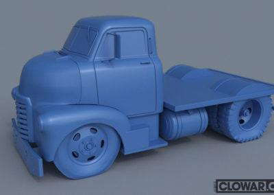 COE-Cab-Over-Engine work in progress 3D model.