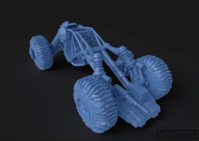 Scale model parts