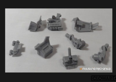 Dust Buster 1/35th scale parts formed for model kit